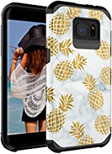 CASY MALL Galaxy S7 Edge Case, Dual Layer Heavy Duty Hybrid PC+TPU Protect Case for Samsung Galaxy S7 Edge 2016 Release Pineapple Black