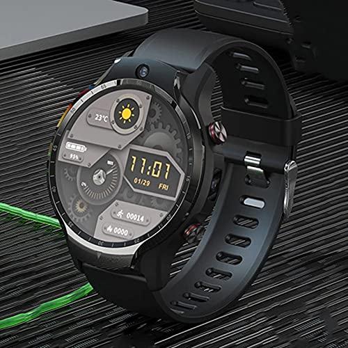 JXFF Tarjeta De Reloj Inteligente Dual Chip + Dual System 4 + 128G Memoria Grande 4G Full Netcom Dual Camera Watch Adecuado para Android iOS