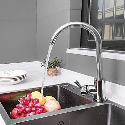 ARNTY Grifo Cocina, Grifo Fregadero Cocina,Griferia Cocina con Caño Giratorio 360 ° y Profesional Agua Fría y Caliente