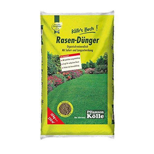 Kölle\'s Beste Rasendünger organisch-mineralisch für einen prächtig grünen und dichten Rasen, praktisches Granulat, für alle Rasensorten geeignet, zur Düngung vom Frühjahr bis Herbst, 10 kg