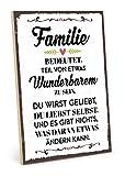 TypeStoff Holzschild mit Spruch – Familie BEDEUTET Teil