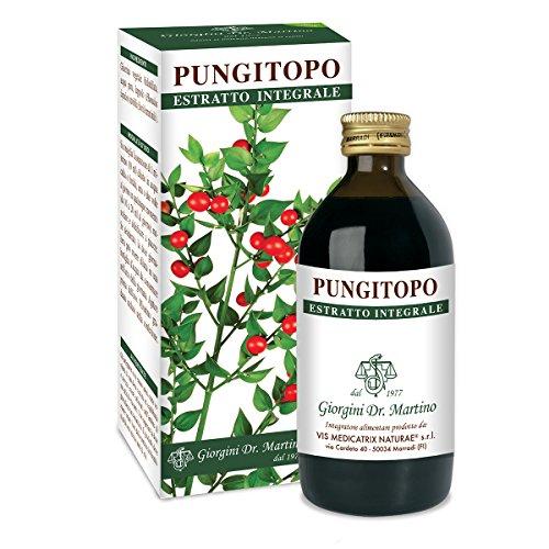 Dr. Giorgini Integratore Alimentare, Pungitopo Estratto Integrale Liquido Analcoolico - 200 ml