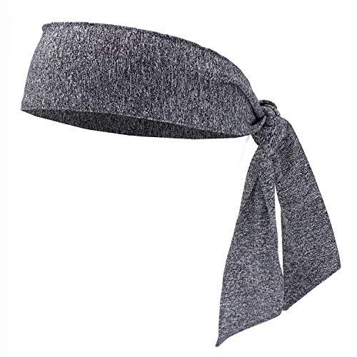 Pannband turbaner hårband för kvinnor män hårband kvinnor sport knytband tillbaka hårband sport yoga hårband tillbehör, svettband – hampa_grå