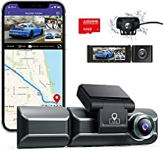 AZDOME M550 Dash Cam 3 Channel, Front Inside Rear 1440P+1080P+1080P Car Dashboard Camera Recorder, 4K+1080P Dual, 3.19