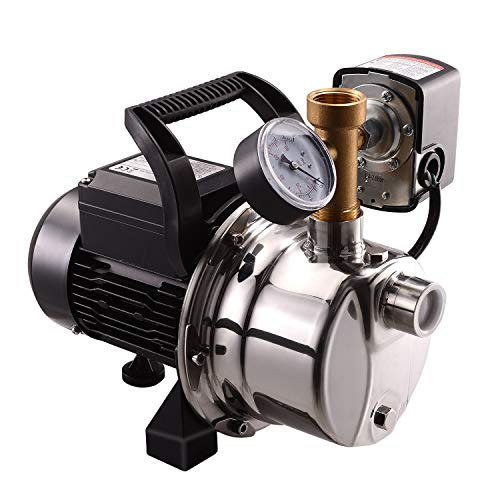 BACOENG 900GPH Shallow Well Jet Pump with Pressure Switch 20-40psi