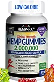 Hemp Gummies Low-Calorie 2,000,000 Clinical Strength Ultra Premium - 120 Fruity Hemp Oil Gummies - Powerful Hemp Candy Supplement Fights Pain, Stress, Inflammation, Insomnia