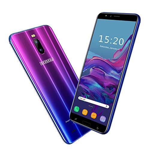 2020 Moviles Libres Baratos6.0'' Pulgadas 4G Teléfono Móvil Libre 3GB RAM 16GB ROM Android 8.1 Moviles Barats y Buenos Quad-Core 4800mAh Batería Dual SIM 8MP Cámara Face ID(Púrpura)