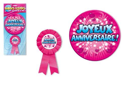 Badge anniversaire rose