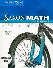 Saxon Math Intermediate 3, Volume 1
