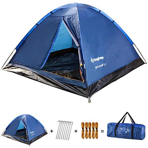KingCamp Tenda Campeggio Bambino 2 posti Leggera Tenda da Campeggio Portable Durable Breathable per 2 Persone per Campeggio Escursioni Arrampicata