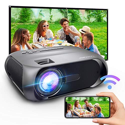 """Proyector WiFi BOMAKER Mini Projector Portátil 5500 Lúmenes Full HD 1080P y 300 \""""Compatible, Proyector Inalámbrico y con HDMI y AV para iOS / Android / TV Stick / PS4 / PC en Casa y Exterior S5"""