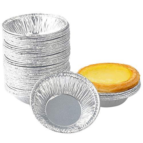 Egg Tart Form, 250pcs Ei Tart Form, Non Stick Einweg Aluminiumfolie Tassen Backen Muffin Cupcake Dose Form, Egg Tart Mold für kleine Kuchen, Torten, Muffin Cupcakes