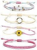 Waterproof String Bracelets for Girls Summer Wave Bracelet Friendship Handmade Wave Bracelet (G)