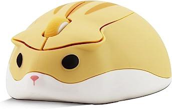 2.4GHz Wireless Mouse,Cute Hamster Shape Mini Silent Ergonomic Design Small Portable Mouse,1200DPI USB Cordless PC Laptop ...