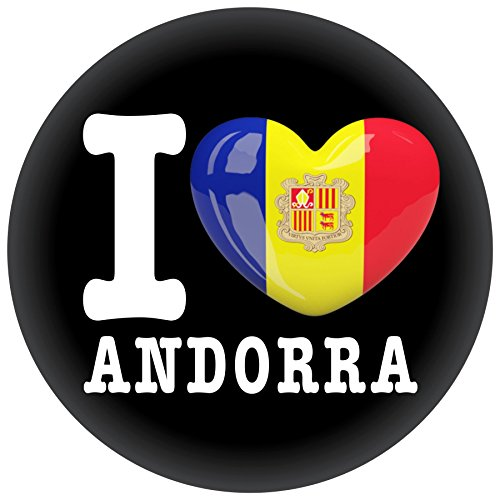 FanShirts4u Button/Badge/Pin - I Love ANDORRA Fahne Flagge (I Love Andorra)