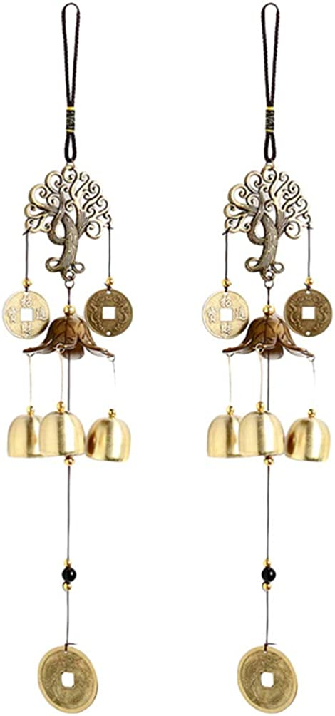 Very popular UPKOCH Wind Chime Vintage Chinese Max 52% OFF Ornament H Bell Coin