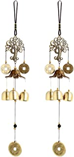 UPKOCH 2pcs Wind Chime Vintage Chinese Coin Bell Ornament Wind Bell Hanging Music Decor for Outdoor Patio Home Garden Deco...