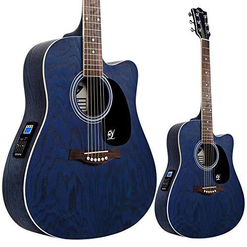 """Lindo """"Willow"""" Elektro-Akustische Gitarre mit Vorverstärker/digitalem Tuner/XLR-Ausgang/ Klinkenbuchse und Gitarrentasche"""