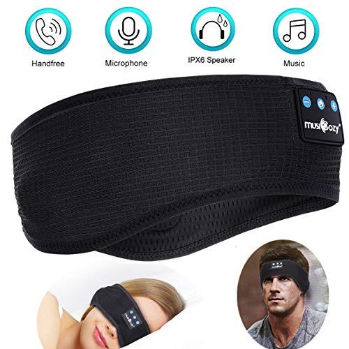 Schlaf Kopfhörer Bluetooth - Kabellos V5.0 Sport Stirnband Kopfhörer Musik schlafen HD Stereo Lautsprecher,Perfekt für Sport, Seitenschläfer, Flugreisen, Meditation und Entspannung