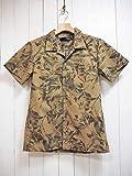 Magine(マージン) T/C BOTANICAL PRINT OPEN/C SHIRTS S/S ボタニカルプリントオープンカラー半袖シャツ (カーキ) 開襟/アロハ/半袖/メンズ/カジュアル (48(L))