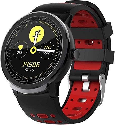 Reloj Inteligente Fitness Reloj Podómetro Reloj Deportivo Tracker Fitness Pulsera Reloj Señoras Hombres - Rojo