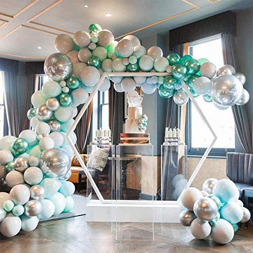 SLRMKK Latex Balloons, Blue Green Colours Balloons Garland Arch Kit for Birthday Wedding Baby Shower Graduation Party Decorations