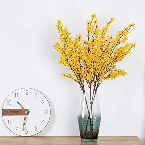 95sCloud 1 Stück Künstliche Blumen Frühling Kunstblumen Gelb Künstliche Dekoblumen für Balkon Topf Tischdeko Vase Hause Blumengesteck Hochzeits Balkon Garten Topf Vase Tischdeko Zuhause Dekoration