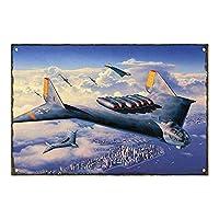 ヴィンテージメタルサインプラークメタル-飛行機の航空機の飛行機、ブリキの金属の壁アートサインはブリキのプレートの壁の装飾ポスターに掛かっています