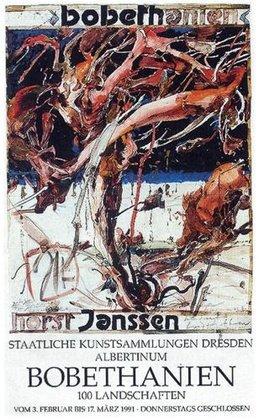 Horst Janssen Bobethanien Poster Plakat Kunstdruck