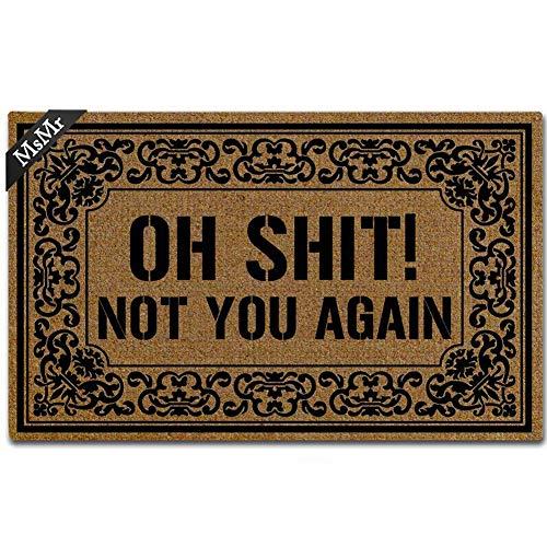MsMr - Zerbino per ingresso 'Oh Not You Again', per interni e casa, 60 x 40 cm