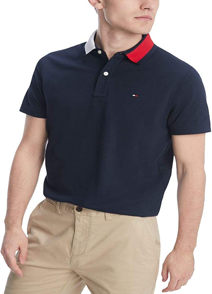 Tommy Hilfiger Men's Flag Pride Polo Topics on TV in Fit Branded goods Custom Shirt