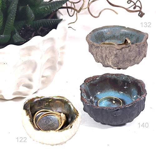 Keramunzel KERA-Mystic 3 kleine Schalen Seeigel Porzellan und Ton naturell und elementar Handmade Nr: 122,132,140 (Nr: 140)