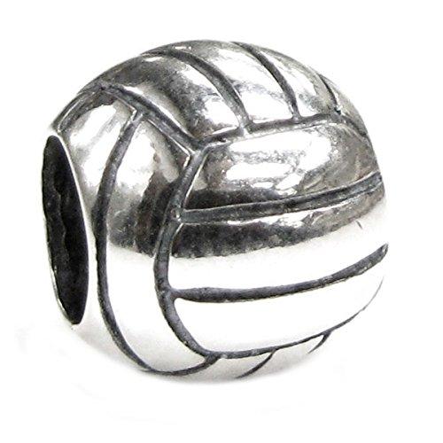 Queenberry, ciondolo in argento Sterling, a forma di pallone da pallavolo