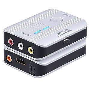 Tendak - Conversor de vídeo HDMI a RCA, 1080P HDMI a AV 3RCA CVBS con extractor de audio HDMI Optical Toslink SPDIF + Coaxial compatible con variantes PAL/NTSC para STB Blu-ray DVD Xbox PS4