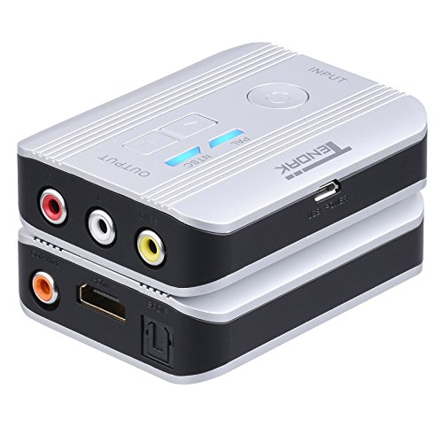 tendak HDMI zu AV RCA CVBS Composite Video Konverter mit Optical Toslink SPDIF + Coax + R/L Audio Extractor für Roku TV, wie Chromecast, Blu-ray-Player und mehr