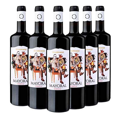 Mayoral Reservado - Vino Tinto D.O Jumilla - Pack de 6 Botellas x 750 ml