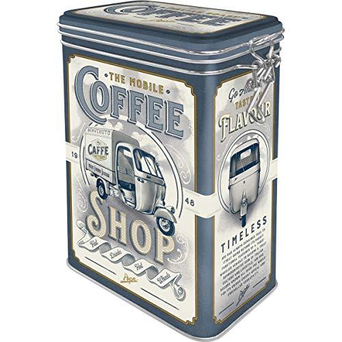 Nostalgic-Art 31123 Retro Kaffeedose Ape – Coffee Shop – Geschenk-Idee für Italien-Fans, Blech-Dose mit Aromadeckel, Vintage Design