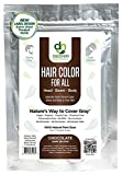 Hair Color For All Natural Hair Dye For Men & Women I 100% Natural & Chemical-Free Pure Hair & Beard Color, Chocolate Dark Brown