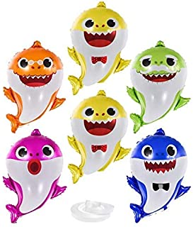 Party Propz Baby Shark Foil Balloons 7-Pieces Set