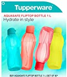 Tupperware Eco Sports Water Bottle Flip Top 1 Ltr 2pcs