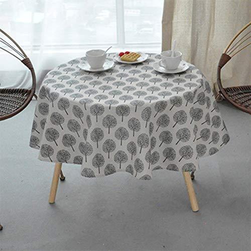 ONECHANCE Mantel Lino algodón Lavable Estampado Floral