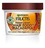 Garnier Fructis Masque Lissant Multi-Usages Macadamia, Pour Cheveux Secs et Rebelles, 390 ml