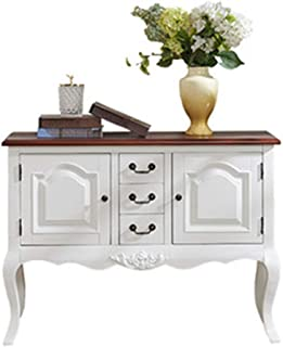 Elegante Ideale per ingressi soggiorni Tuoni Draw salotti 88,5 x 40 x 79 cm Shabby Chic Consolle in Legno Bianco Anticato