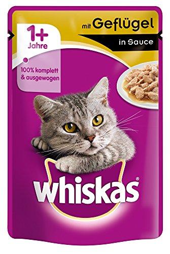 Whiskas kattenvoer natte voeding gevogelte in saus, afmetingen test (1 x 85 g)