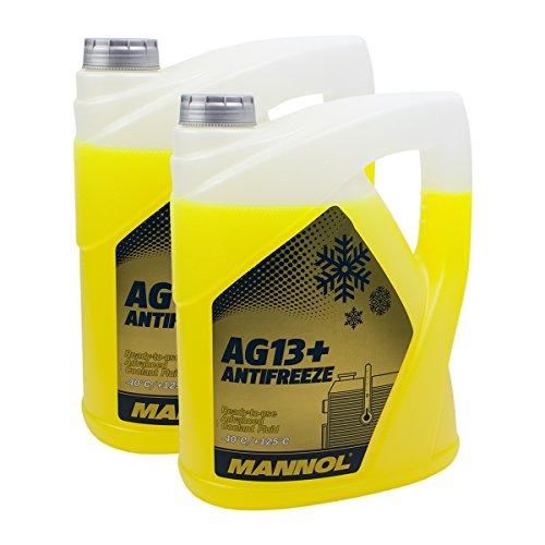 2X MANNOL MN4014-5 AG13+ Advanced Antifreeze -40°C Kühlerfrostschutz 5L