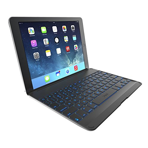 ZAGG Hinged Cover With Backlit Bluetooth keyboard for iPad Air - Black (Certified Refurbished)