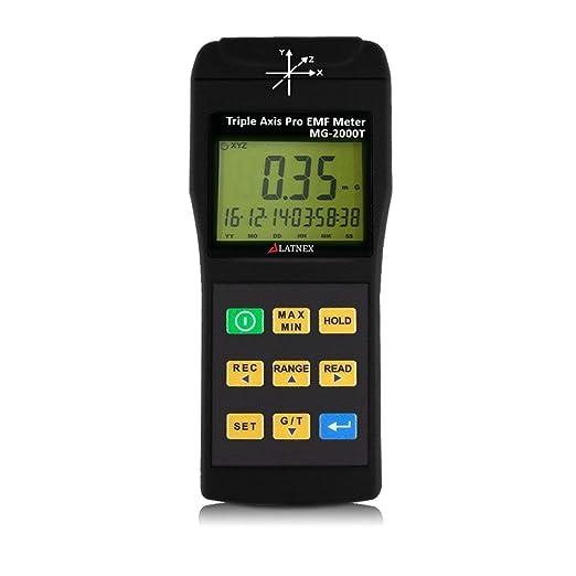 33 opinioni per LATNEX EMI Magnetico Campo Gauss Meter Detector MG-2T Uso professionale con