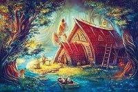 ジグソーDIY木製パズル家族の楽しい教育クリスマスパズル子供のための1000ピース大人のティーンエイジャー、最高のジグソーパズルおもちゃゲームギフトウサギの漕ぎ-50x75cm