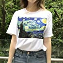 DAHDXD Falda Mujer Falda Estampado Estampado Van Gogh Noche ...
