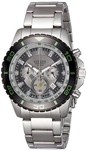 Uhr Citizen an8030–58G Herren chronografo in Stahl Unterwasser 100m